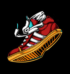 Sneakers in color sport shoes vector