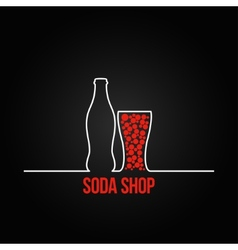Soda bottle splash design menu background vector