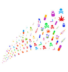 source stream narcotic drugs vector image