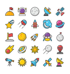 space icons 2 vector image