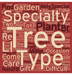 Specialty Trees A Beginner s Guide text background vector image