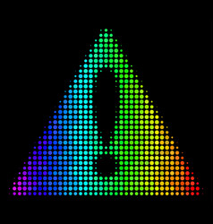 spectrum pixel warning icon vector image