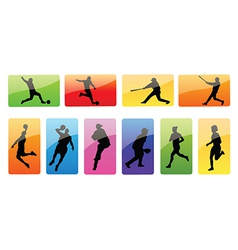 Sportspeople silhouettes vector