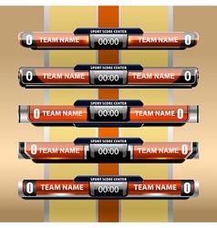 template scoreboard sports design vector image