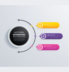 Timeline 3 infographic design and marketing vector