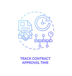 Track contract approval time concept icon vector