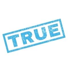 True Rubber Stamp vector
