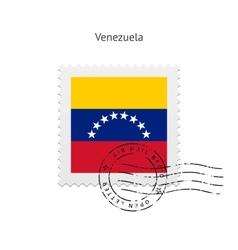 Venezuela Flag Postage Stamp vector