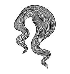wave line curl monochrome stripes black and white vector image