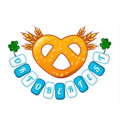 welcome oktoberfest icon cartoon style vector image