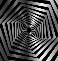 Abstract striped warped hexagonal optical vector image