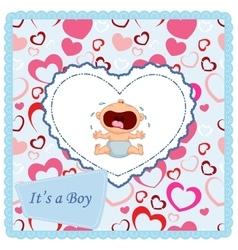 Baby crying card vector