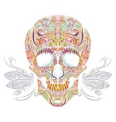Color decorative Skull vector image