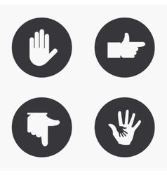 modern hand icons set vector image