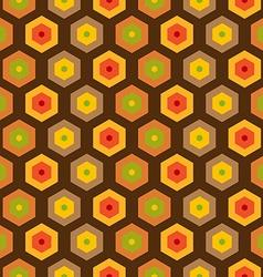 Seamless retro honeycomb pattern vector