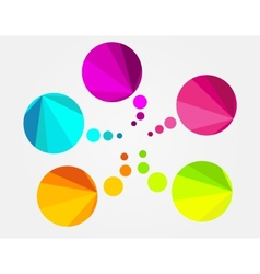Abstract colorful round speech bubble vector