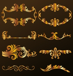 Gold Decorative Ornament vector image vector image
