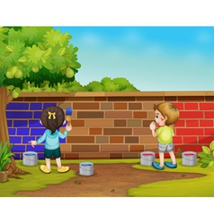 Kids painting vector image vector image