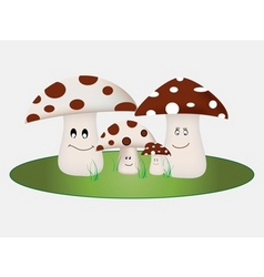 mushroom family vector image vector image