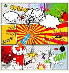 Retro Comic Book vector image vector image