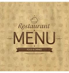 Vintage Restaurant Menu Design vector image