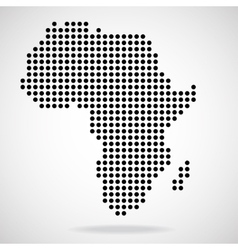 Abstract map of Africa from round dots vector image vector image
