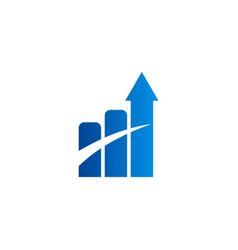 arrow business finance chart logo vector image vector image