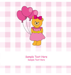 bear balloons vector image vector image