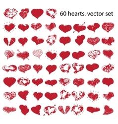 happy valentines hearts set vector image vector image