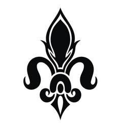 lily flower heraldic emblem vector image