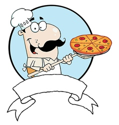 Male Pizzeria Chef vector image