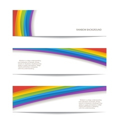 set of rainbow background vector image