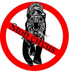 stop circus vector image vector image
