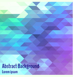 abstract geometric background bright polygon vector image vector image