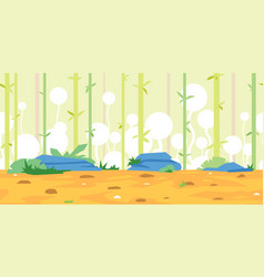 bamboos game background landscape vector image vector image