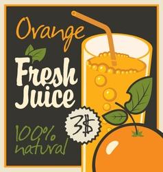 juice orange vector image vector image