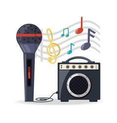 microphone with amplifier speaker music vector image