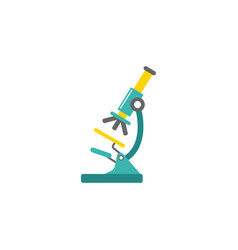 microscope flat icon medicine and research vector image vector image