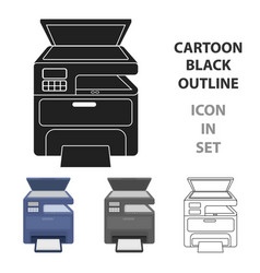 multi-function printer in cartoon style isolated vector image