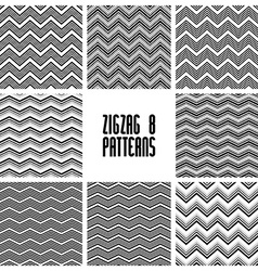 Zig zag black and white geometric seamless vector image vector image