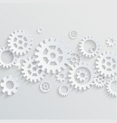 3d gears and cogs background vector image