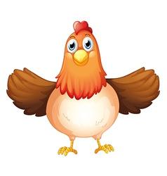 A fat mother hen vector image