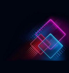 Abstract geometric neon background vector