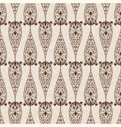 Abstract Seamless Ethnic Floral Pattern vector image