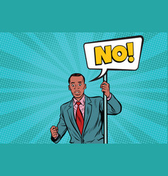 african businessman protests vector image