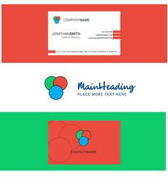 beautiful circles logo and business card vertical vector image