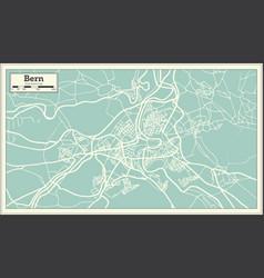 Bern switzerland map in retro style vector