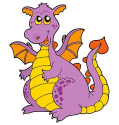 big purple dragon vector image