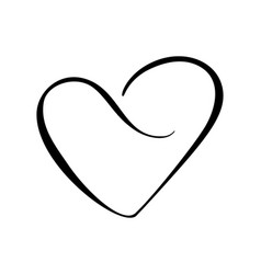black heart sign icon on white background vector image