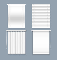 blind window curtain or set isolated louver vector image